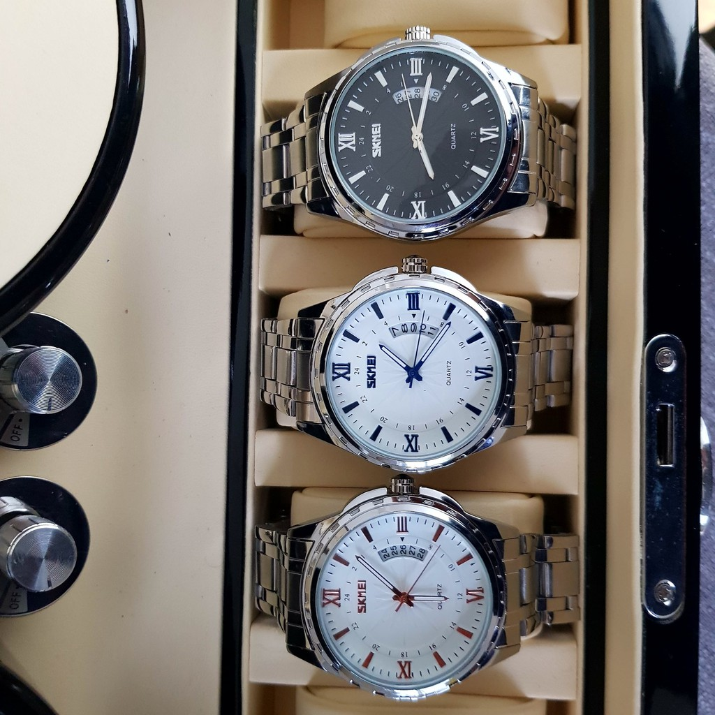 [Tặng vòng tay]Đồng hồ nam thời trang Skmei SK9069.02 chính hãng dây thép chống gỉ ca