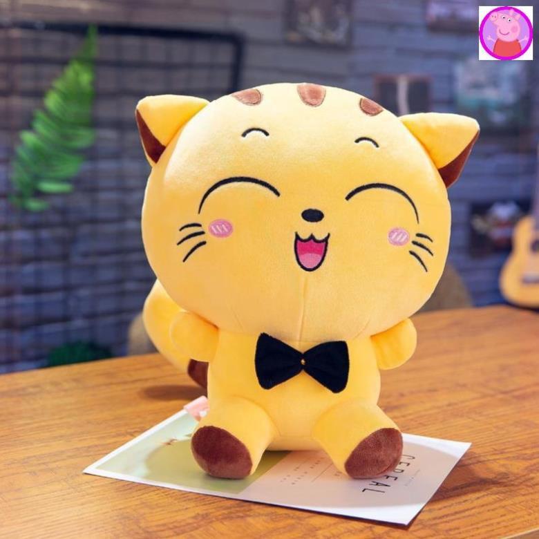 Mèo Bông Mishu Gấu bông Thú bông ngộ nghĩnh đáng yêu Chất liệu vải co giãn 4 chiều mềm min nhồi bông gòn an toàn cho bé