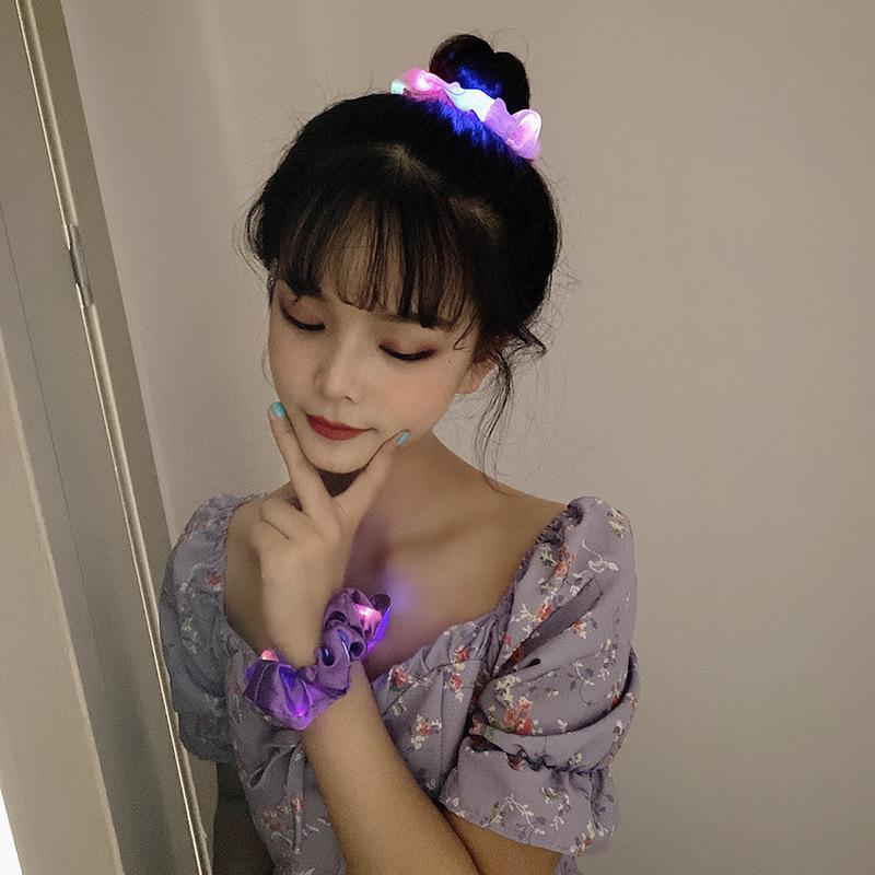 Dây buộc tóc có đèn LED phát sáng xinh xắn cho nữ
