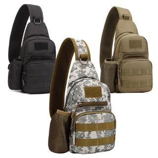 Men Messenger Shoulder Bag Sling Waterproof Chest Bag Outdoor Tactical Military