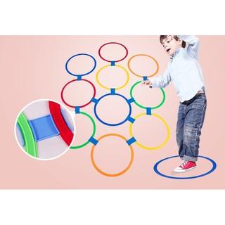 Vòng Nhảy Lò Cò Cho Bé Bộ 10 vòng chơi nhảy lò cò cho bé Size 28 cm – Đồ chơi vận động