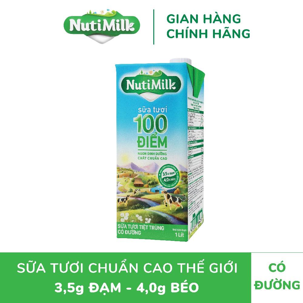 Sữa NutiMilk ST tiệt trùng Có Đường H1L /hộp