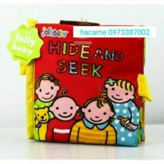 Sách vải Hide and Seek jollybaby