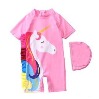 Đồ bơi cho bé gái đồ bơi bé gái liền thân ngựa hồng Pony liền thân kèm mũ siêu yêu 2-9 tuổi - Misolkids by huong274