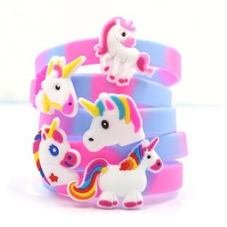 Vòng tay silicon hình Unicorn màu sắc kỳ ảo ngộ nghĩnh cho bé gái (1pcs) BBShine J020 thumbnail