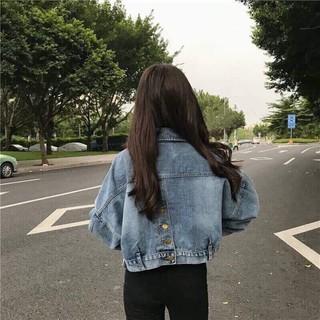 Áo khoác jeans fom lửng