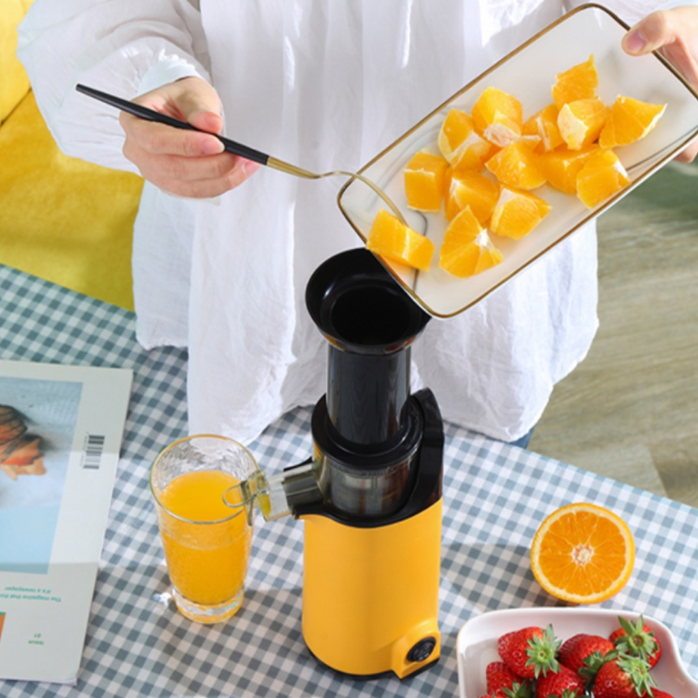 Máy ép chậm trái cây mini siêu kiệt bã dễ dàng tháo lắp vệ sinh, máy ép trái cây nhỏ gọn tiện lợi chính hãng BH 12 tháng