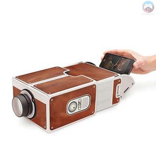Ê Mini Smart Phone Projector Cinema Portable Home Use DIY Cardboard Projector Family Entertainment Projective Device thumbnail