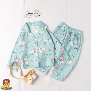 Bộ đồ ngủ pyjama chất liệu cotton cao cấp họa tiết siêu dễ thương cho bé BR20017 – MAGICKIDS