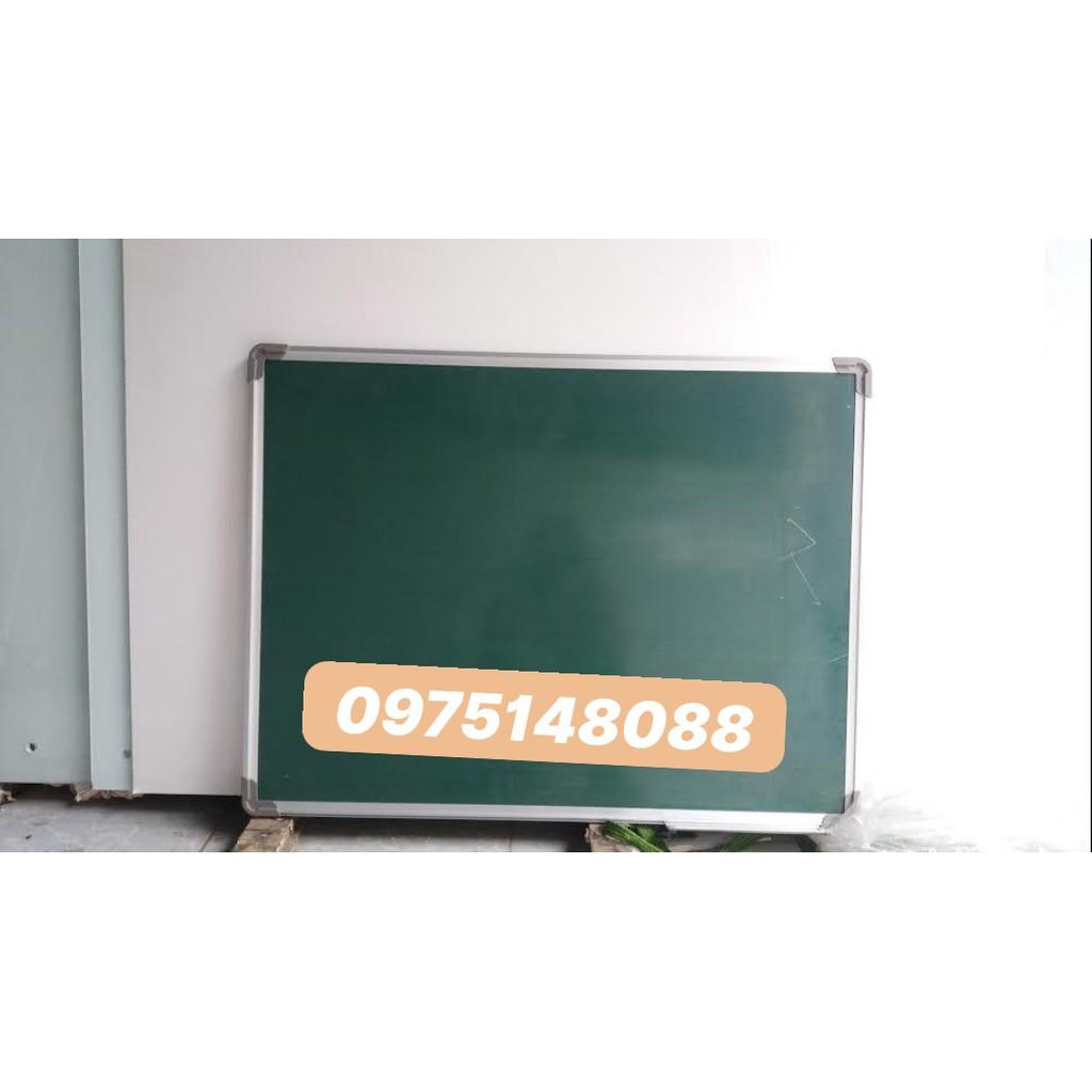 Bảng từ xanh viết phấn KT:60x80cm ( tặng kèm phấn, bông lau, nam châm)