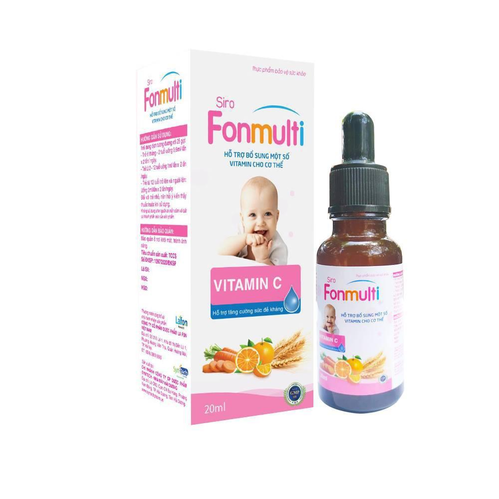 Bổ sung Vitamin, hỗ trợ tăng cường sức để kháng cho bé - Fonmulti - 20ml