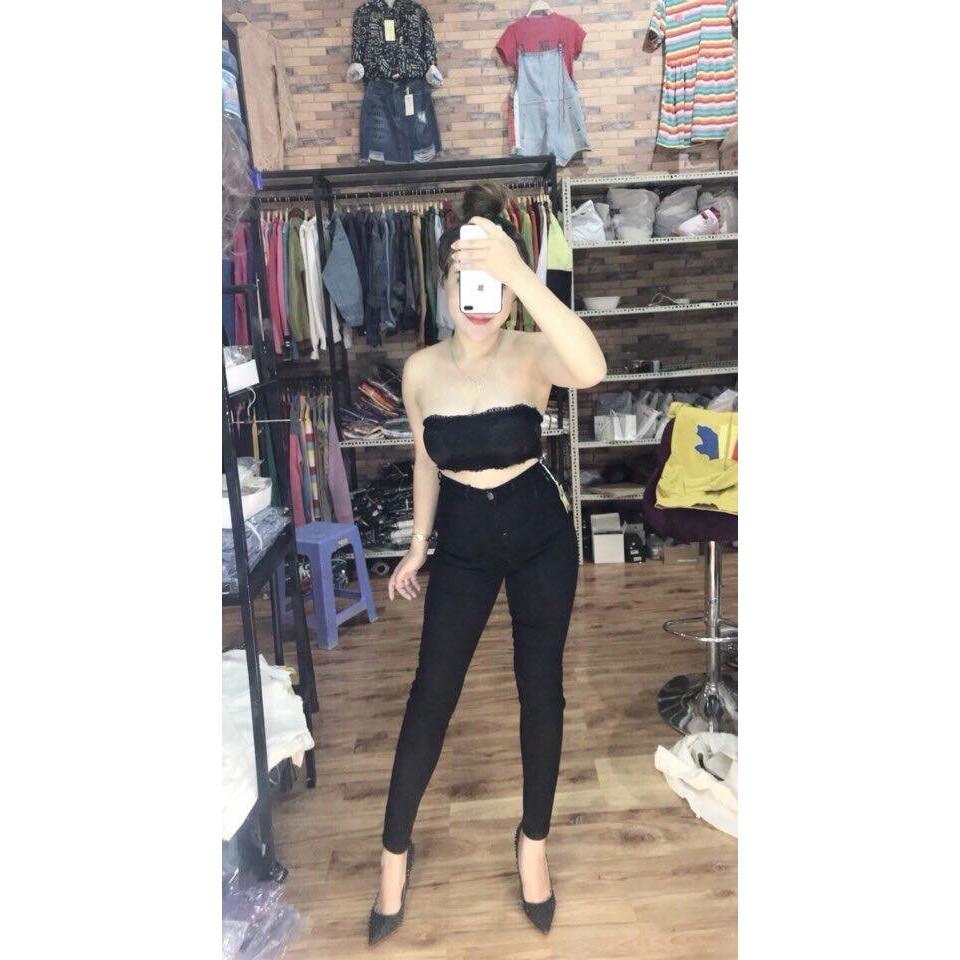 Quần jean nữ lưng siêu cao 2 MÀU HÌNH THẬT 10202 | WebRaoVat