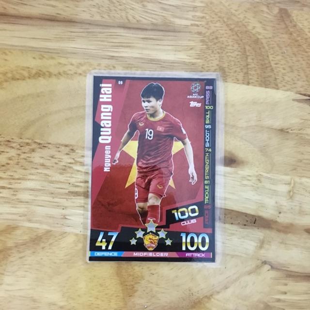 Thẻ Match Attax Cầu Thủ ĐTQG Việt Nam (Quang Hải, Văn Hậu, Văn Lâm)