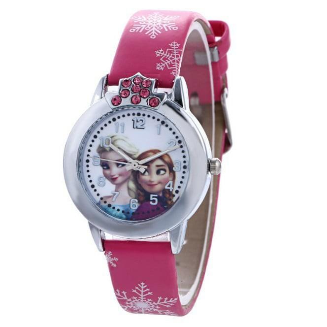 [HÀNG ĐẸP] Đồng hồ đeo tay công chúa Elsa cho bé gái 3 màu Hồng đậm, hồng nhạt, tím