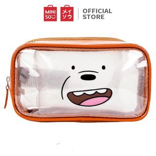 Túi đựng mỹ phẩm Miniso Bare Bears (Nhiều màu) - Hàng chính hãng