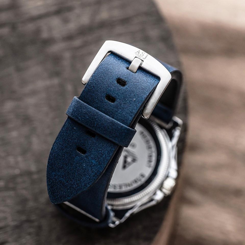 [BIG SALE] Đồng hồ ASJ Nam Cao Cấp Lịch Ngày ASJ01 Dây Da Pu Mặt Kính Sapphire Tặng Vòng Tay Tỳ Hưu + Hộp