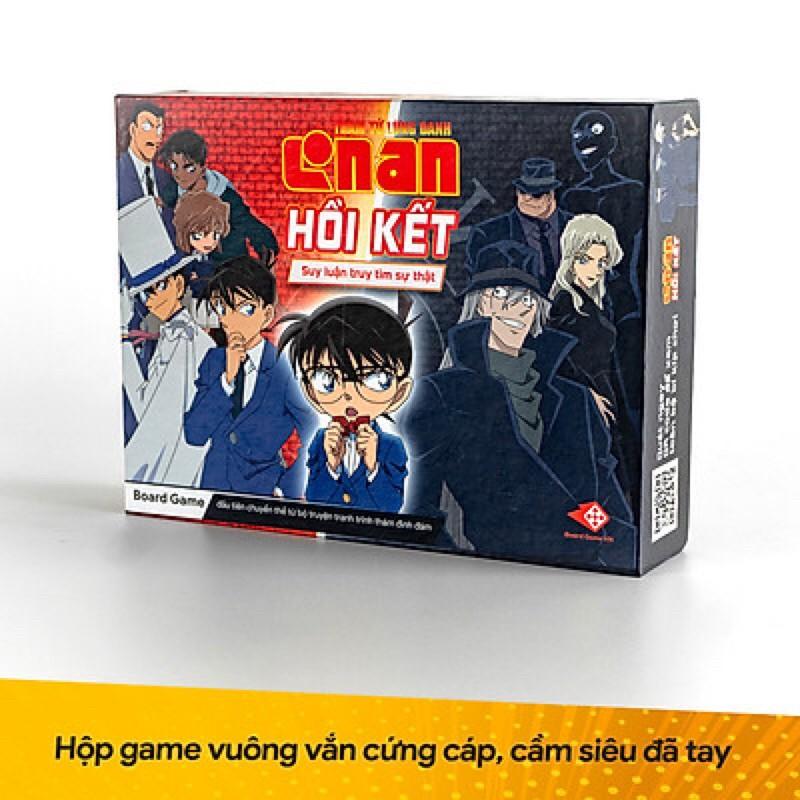 """Boardgame """"Thám tử lừng danh Conan – Hồi Kết"""" – kèm bộ Hồ sơ 25 nhân vật cực chất"""