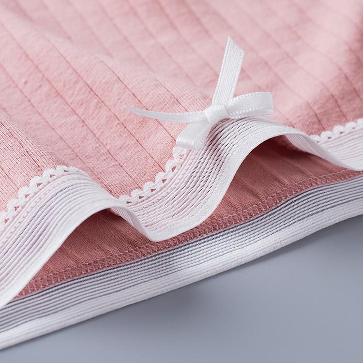 Quần Lót Cotton Tăm Viền Ren xuất Nhật