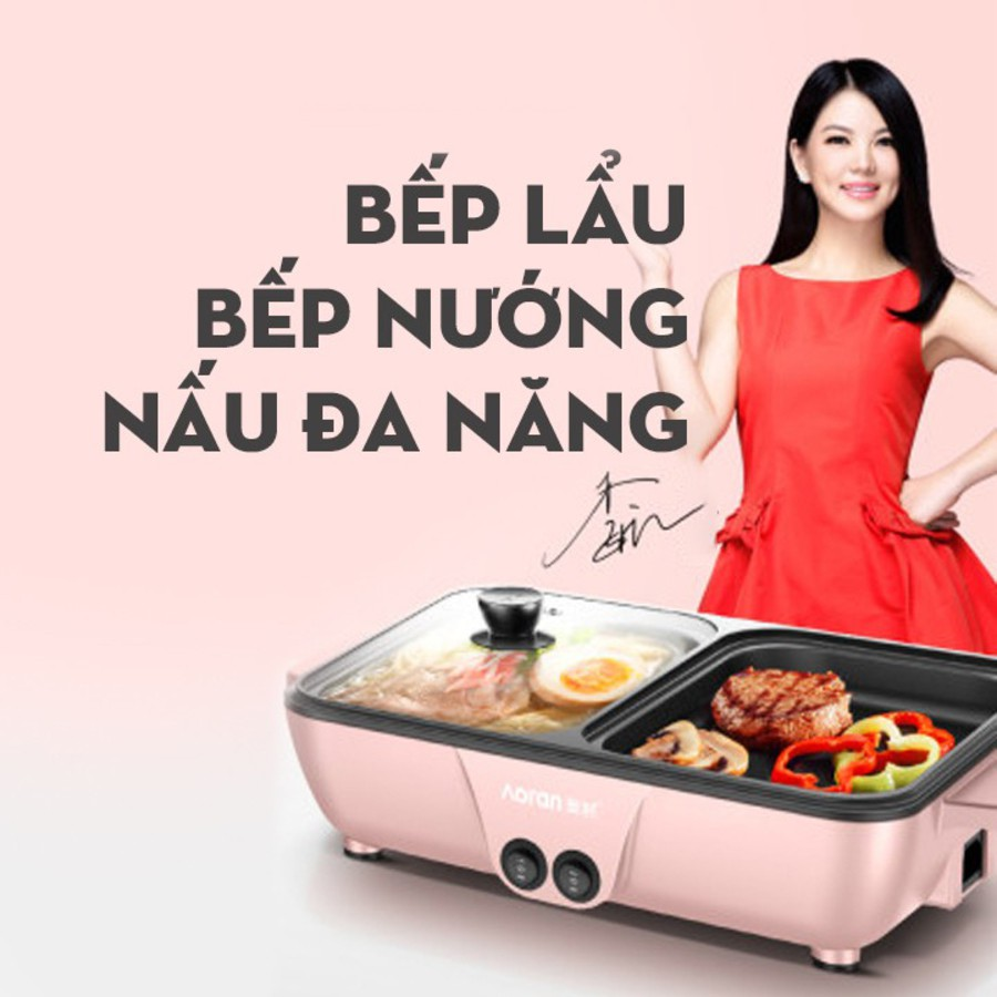 Nồi Lẩu Nướng Hàn Quốc Cofy 2 Ngăn Ăn Lẩu Và Nướng Cùng Lúc Siêu Tiện Lợi