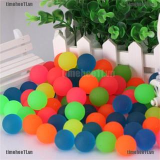 【timehee11】10PCS Creative Rubber Bouncing Jumping Ball 27mm Kids Children G