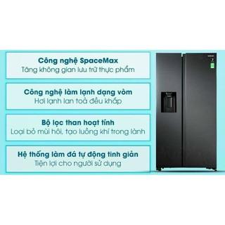 Tủ lạnh Samsung Inverter 617 lít RS64R5301B4/SV NEW bảo hành chính hãng 2 NĂM