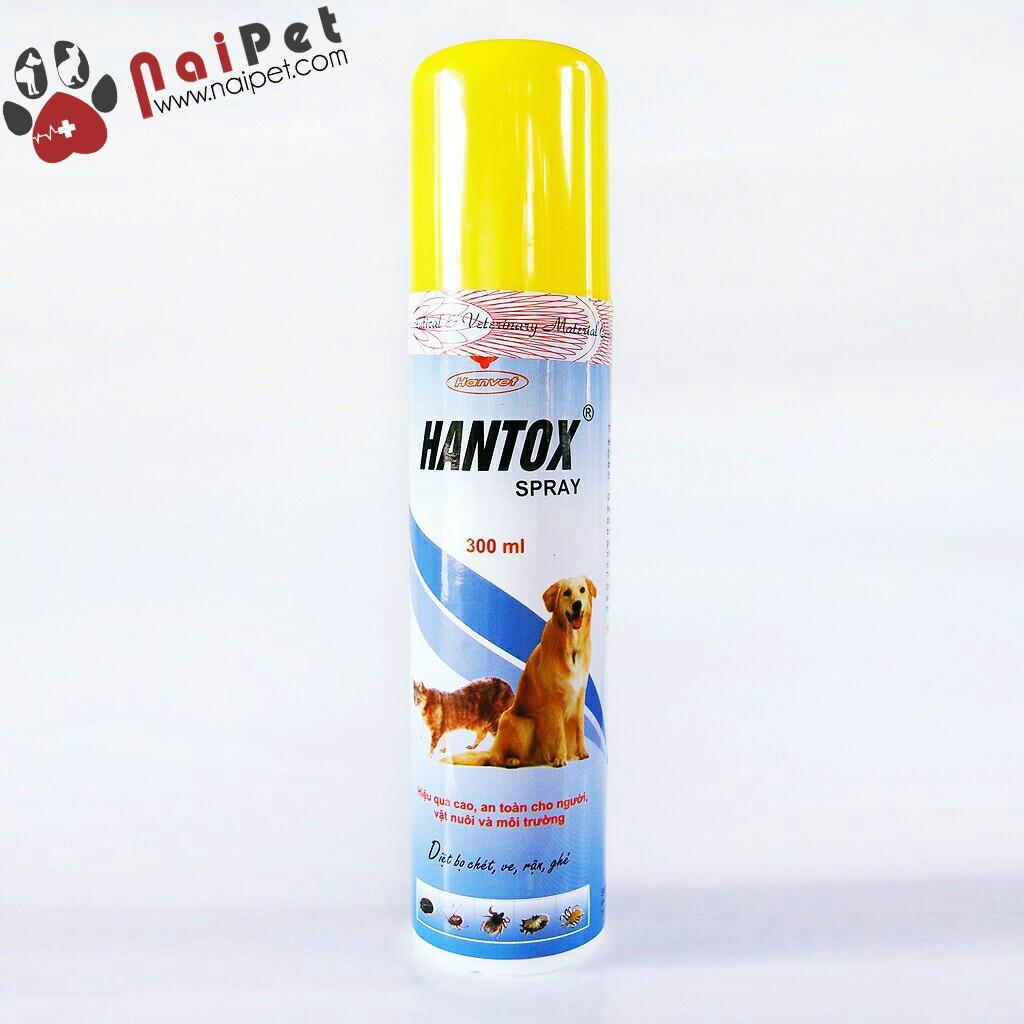 Thuốc Xịt Diệt Rận Bọ Chét Kiến Gián Hantox Spray 300ml