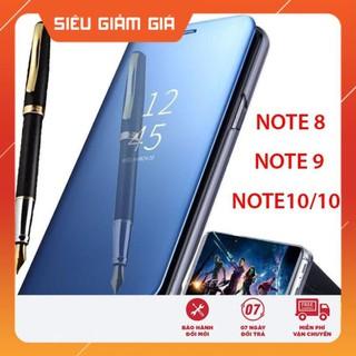 Bao da tráng gương cho Samsung Galaxy Note 8, Note 9, Note 10, Note 10 Plus