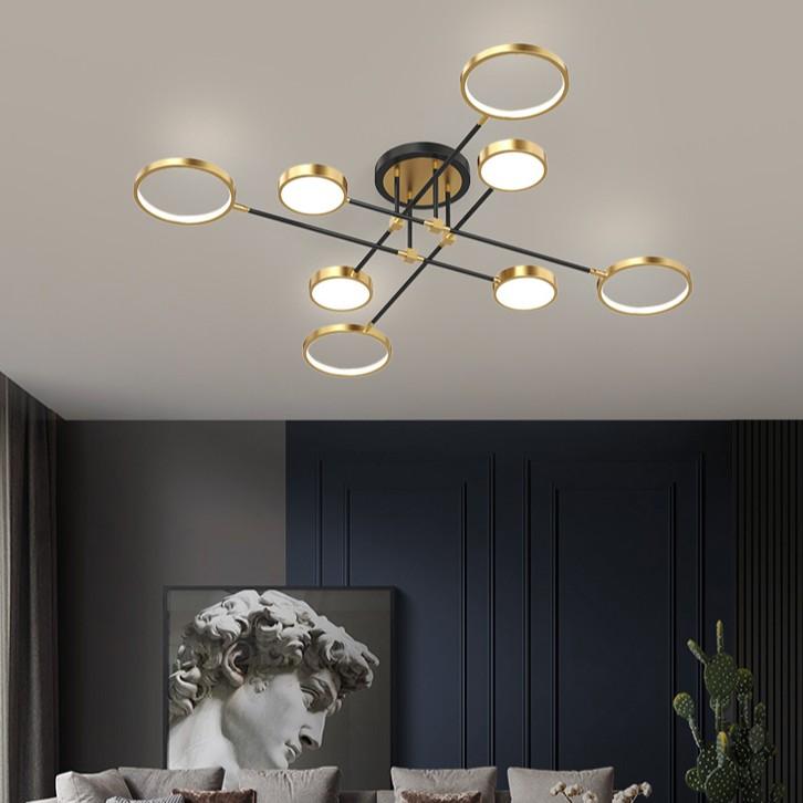 Đèn chùm LED GOSET kiểu dáng độc đáo, hiện đại với 3 chế độ ánh sáng.