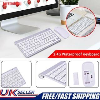 {forstrehhuj}Thin Mini Wireless 2.4G Keyboard And Optical Mouse Combo Set For PC Laptops UK UUE