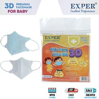 Khẩu trang y tế Exper 3D cho bé dưới 5 tuổi. Sản phẩm khẩu trang cao cấp kháng khuẩn bảo vệ bé yêu thumbnail