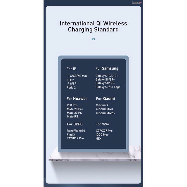 Đế sạc nhanh không dây Baseus Simple 2 in 1 Wireless Charger 18W cho iPhone và Airpods (18W, Wireless Quick charger)