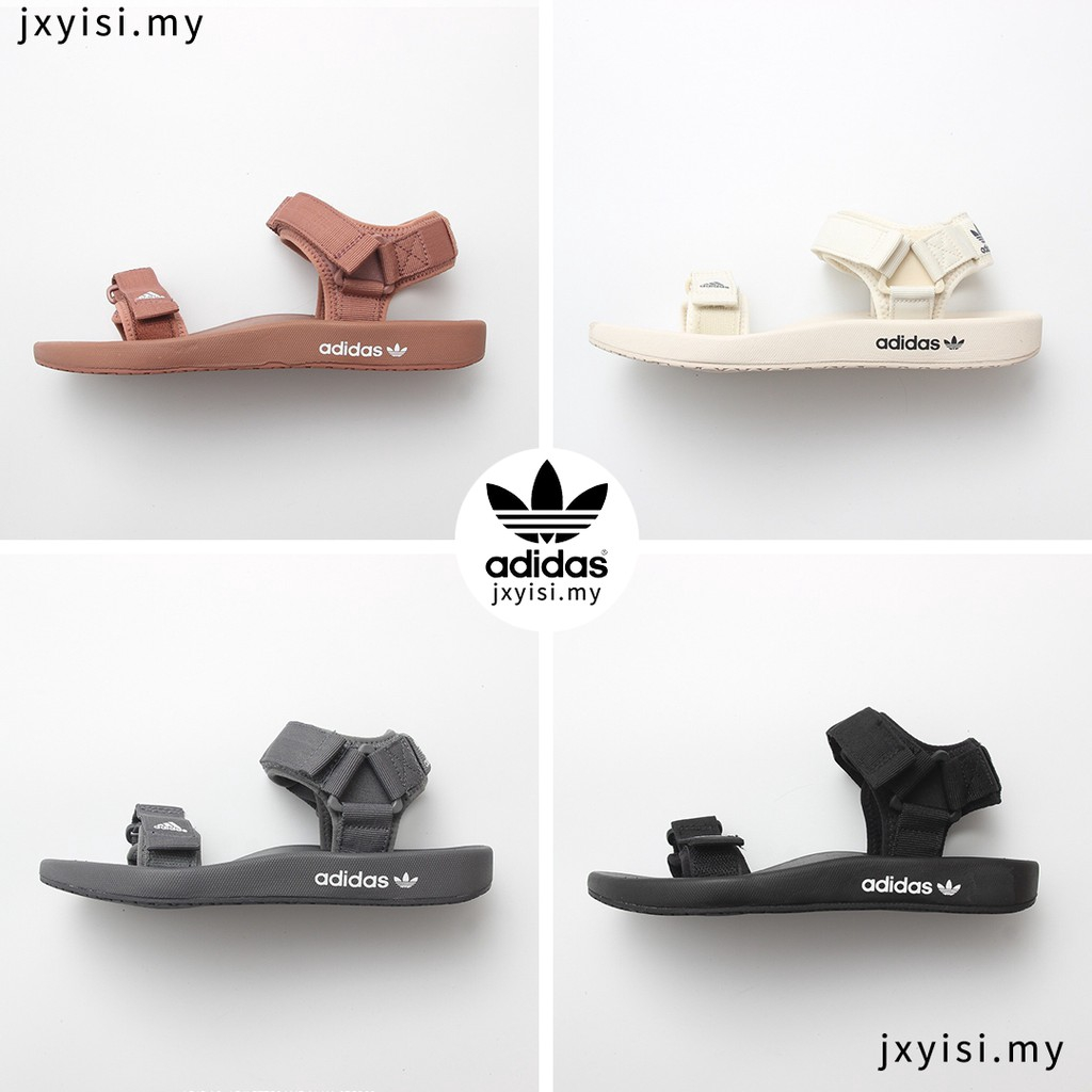 New 2019 Adidas Sandal ADILETTE Man Woman Fashion Casual Outdoor Beach Magic Sticker Sandals Brown White Grey Black