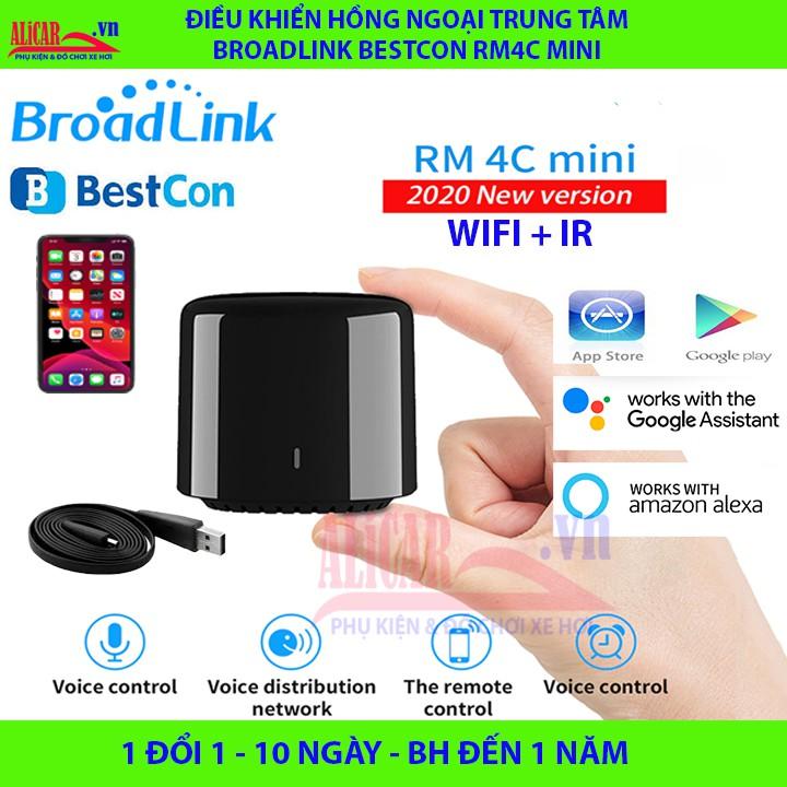 Bản Q.Tế - Điều Khiển Hồng Ngoại Trung tâm Broadlink BestCon RM4C mini (Google Home, Apple Home, Alexa) RM4