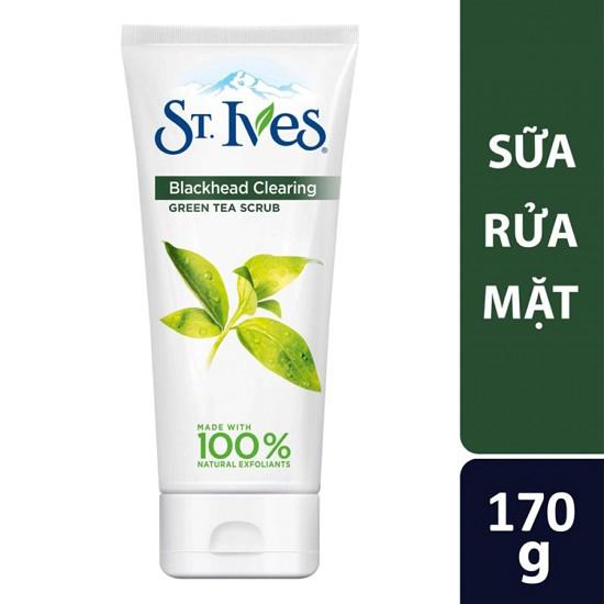 Sữa Rửa Mặt Sạch Mụn Đầu Đen St.Ives Trà Xanh (170g)
