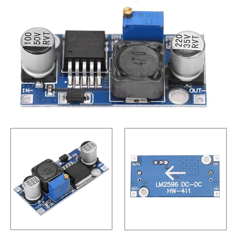 ❤Filicle❤DC-DC 3A Buck Converter Adjustable Step-Down Power Supply Module LM2596S