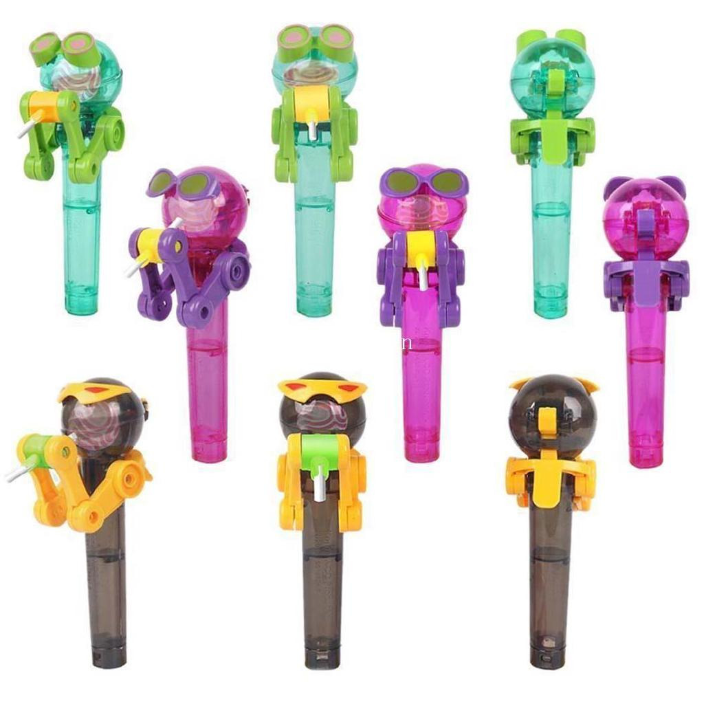 l Candy Lollipop Dustproof Cover Toys Robot Lollipop Holder