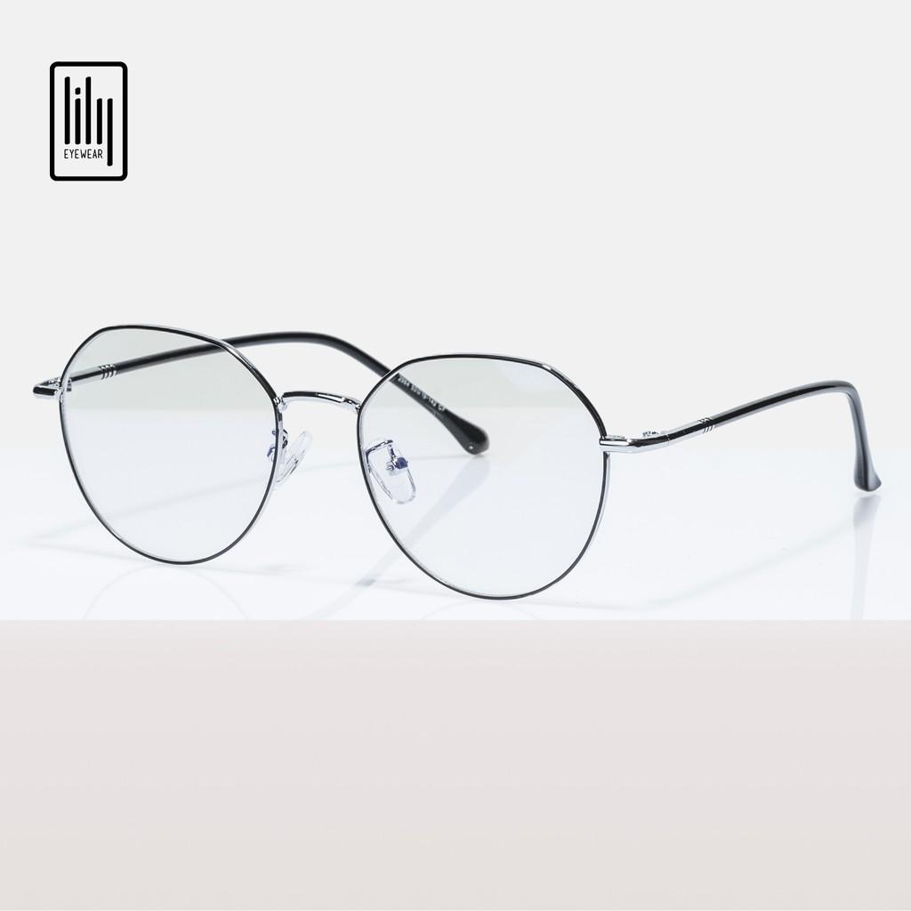 Gọng kính kim loại nam nữ Lilyeyewear , mắt đa giác thời trang , nhiều màu sắc lựa chọn - Y2984