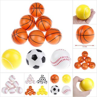【COD•tope】6Pcs 6.3Cm Childrens Vent Balls Soccer Stress Balls For Stress Relie