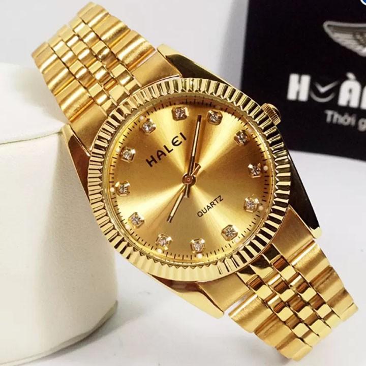 Đồng hồ nam halei vàng kim cực đẹp (có size nữ)