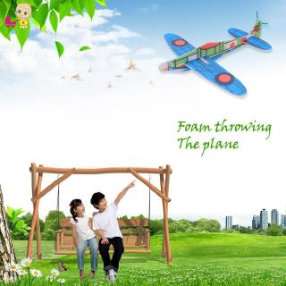 ❦Ready Stock❦☞ Hand Launch Throwing Glider Aircraft Inertial Foam DIY Airplane Toy Model