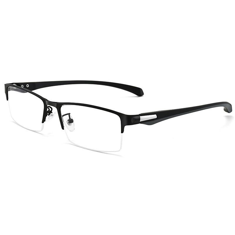 Gọng kính cận nam mắt kính 0 độ bản nhỏ gọng vuông phong cách văn phòng công sở hợp thời trang