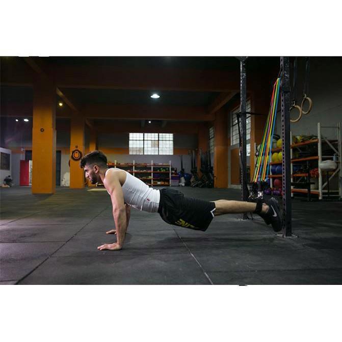 Dây ngũ sắc tập gym, dây kháng lực tập gym ngũ sắc thể hình đa năng tại nhà chất liệu cao su siêu bền GYGA
