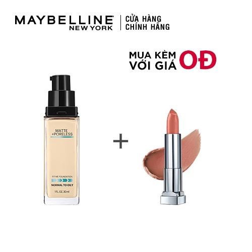 [COSMALL05 -8% ĐH250k]Kem Nền Mịn Nhẹ Kiềm Dầu Fit Me Maybelline New York Matte Poreless Foundation 30ml