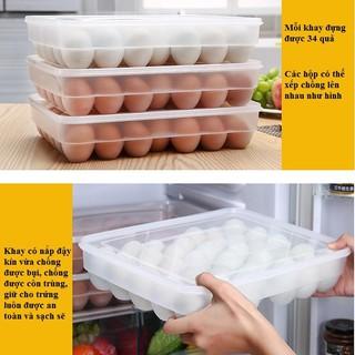 Khay đựng trứng 34 quả trong tủ lạnh có nắp