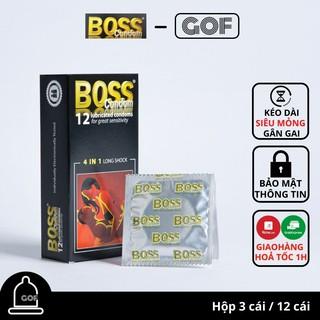 Bao cao su gai gân ôm sát Boss 4 in 1 Long Shock mỏng kéo dài thời gian GoF thumbnail