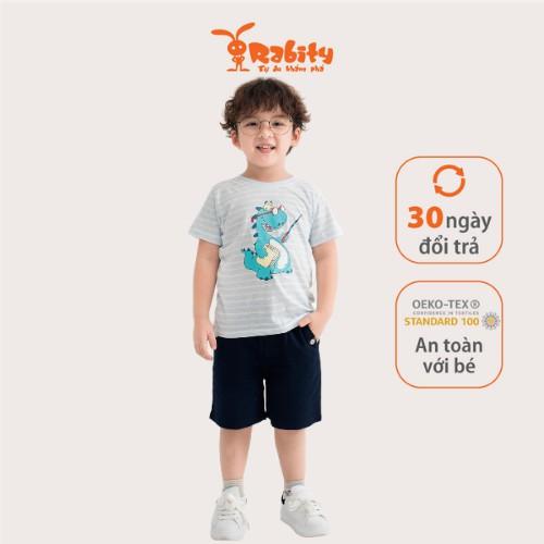 Áo thun bé trai ngắn tay RABITY họa tiết khủng long dinosaurs  90215.91001.91004