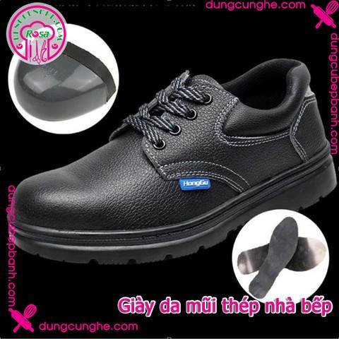 Giày da mũi thép nhà bếp Size 39