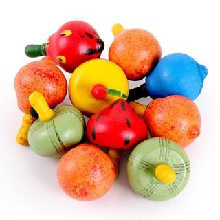 Đồ chơi gỗ con quay hình hoa quả – hàng Việt Nam chất lượng cao