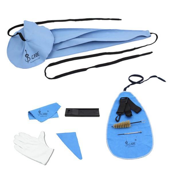 10Pcs/Set Saxophone Cleaning Kit Sax Clean Cloth Mouthpiece Brush Belt Mini