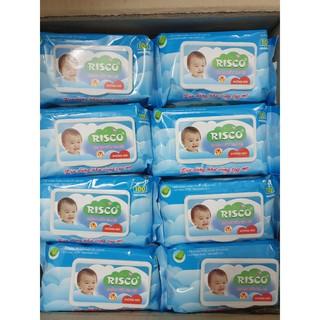 Khăn Giấy Ướt Không Mùi Baby Risco 100 Tờ Có Nắp Đậy An Toàn Cho Bé thumbnail
